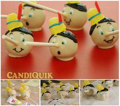 Pinocchio cake pops