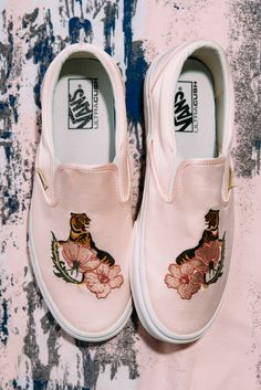 Vans Classic Slip On trainers in rose with free UK delivery. Free returns via our easy Collect+ service and express delivery available. Slip On Trainers, Powder Pink, Vans Classic Slip On, Baby Blue, Sneakers, Easy, Fashion, Tennis, Moda