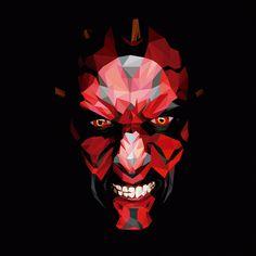Dark Maul on Behance Dark Maul, Star Wars Sith, Clone Wars, Age Of Ultron, Low Poly, Starwars, Dragons, Hannya Tattoo, Captain America