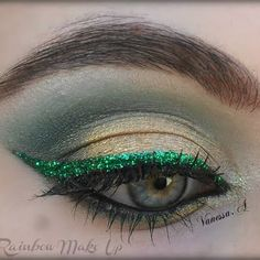 Glittering Green by Vanessa S.  Click the pic to see the video tutorial. #beauty #makeup #nightout