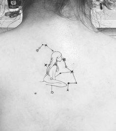 35 Best Virgo Star Constellation Tattoo Designs And Ideas – Her Gazette – virgo constellation tattoo Sternkonstellation Tattoo, Tattoo Mond, Tattoo Hals, Ankle Tattoo, Virgo Tattoo Designs, Tattoo Designs For Girls, Best Tattoo Designs, Virgo Star Constellation, Constellation Tattoos