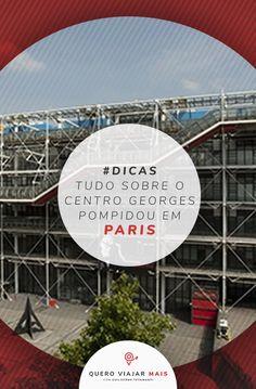Centro Georges Pompidou: saiba tudo sobre o completo, desde plantas, história, ingresso do Centro Georges Pompidou, arquiteto, as mostras e obras de arte. Georges Pompidou, Pompidou Paris, Disneyland, Rio Sena, Tours, Eurotrip, Fair Grounds, Blog, Travel
