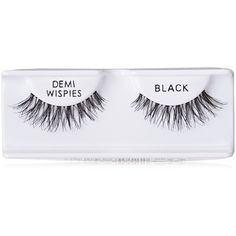 Ardell Natural Lashes, Demi Wispies Black, 6-Count (7.755 HUF) ❤ liked on Polyvore featuring beauty products, makeup, eye makeup, false eyelashes, fillers, ardell false eyelashes, ardell fake eyelashes and ardell