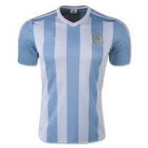 2015 Argentina Soccer Team Home Replica Jersey Whole Kit [A784]