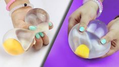 SQUISHY WATER EGG Stress Ball ♥ DIY I'n literally obsessed with these stress balls but I just think these are so cool! Subscribe to HelloMaphie!