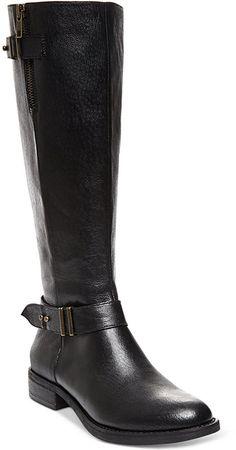 Steve Madden Women's Alyy Wide Calf Riding Boots