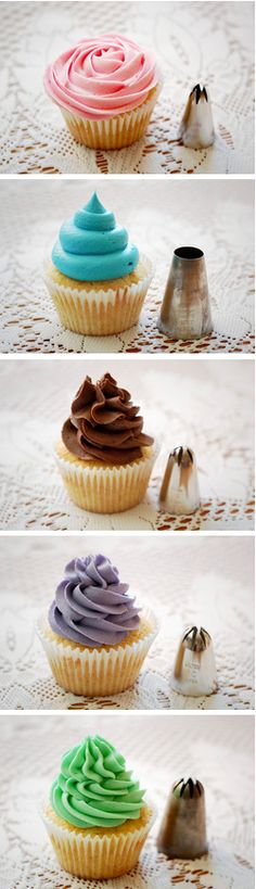 How To Express Your Creativity Through Cake Decorating Cupcake Frosting Tips, Frosting Recipes, Cupcake Cakes, Cake Recipes, Dessert Recipes, Cake Decorating Tips, Cookie Decorating, Cake Pops, Muffins