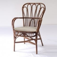 Baden Dutch Vintage Rattan Dining Chair - TevaLiving
