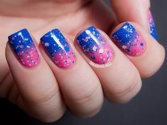 "chalkboardnails: "" Double the Bubble OPI If You Moust, You Moust Essie Butler Please Polish Me Silly Mr. Bubble """