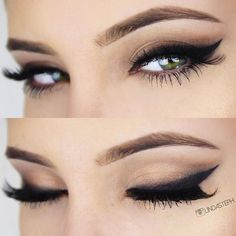 dramatic winged liner = sexy bedroom eyes! ~ we ❤ this! moncheribridals.com