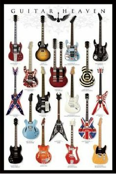 "1art1 48473 Poster 91 x 61 cm ""Guitar Heaven"" on shopstyle.co.uk"