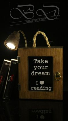 2 in 1 Bookcase lamp ,books,For fans to reading,chill out,relax,lamp led de BEDIFFERENTBE en Etsy