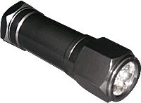 This new flashlight brings LED technology to the ultraviolet spectrum. Finally an ultraviolet light source that's robust enough for demanding field use, and one that provides significantly increased output and effectiveness. Its 8 ultraviolet LEDs are housed in an aluminum body and produces more ultraviolet light than most ultraviolet incandescent or fluorescent bulbs. Designed to work ideally with our Ultraviolet Thief Detection Powder. Push-button on/off switch. Powered by three AAA…