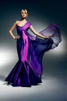 Purple Zuhair Murad gown