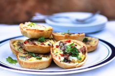 Yummy Yummy mini quiches. We had these for our Mother's Day Brunch. I used store bought pie crust. I gave myself permission since it was Mother's Day!