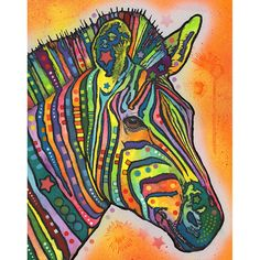This Zebra graphic was created by artist Dean Russo and made into a wall decal sticker by My Wonderful Walls. Animal pop art available in multiple sizes.