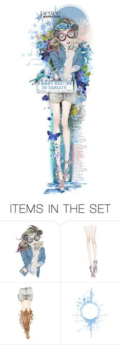 """""""Inspired by PEACE"""" by rosie305 ❤ liked on Polyvore featuring art and artdoll"""