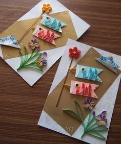 クイリングで鯉のぼり | 通信講座と東京(武蔵小金井)のペーパークラフト教室・ペーパーフラワー・ジャイアントフラワーが学べる教室 船原さわこ Diy And Crafts, Crafts For Kids, Arts And Crafts, Quilling Paper Craft, Paper Crafts, Origami Cards, Japan Holidays, Anime Crafts, Educational Activities For Kids
