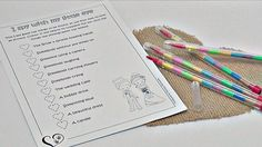Children's I SPY wedding game / activity no camera by PMPrinted
