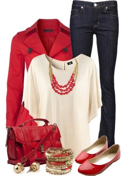 """Red & Gold"" by qtpiekelso on Polyvore"