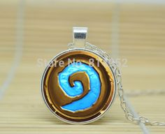 1pcs Wow World of Warcraft Necklace Logo Heartstone glass Cabochon Necklace A3069-in Chain Necklaces from Jewelry on Aliexpress.com | Alibaba Group