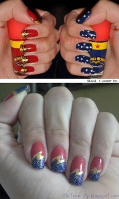 Wonder Woman...if I painted my nails. :)
