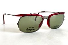 Vintage 1991 Massimo Iosa Ghini for Silhouette M9710 Clip-On Sunglasses – New Old Stock – Made in Austria // free shipping, link in bio // #vintagesunglasses #frenchpartofsweden