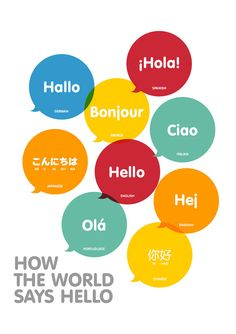 How The World Says Hello art print. This print is for all ages. Print For 8 x 10, 8.5 x 11, A4, 13 x 19 Professionally printed onto Fine Art Paper