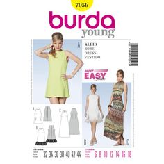 Burda Style Pattern 7056 Dress