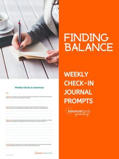 Finding Balance - Printable Weekly Journal Page Happy Mom, Happy Kids, Journal Prompts, Journal Pages, Dealing With Anger, My Step Mom, Parent Resources, Teaching Kindergarten, Fun Activities For Kids