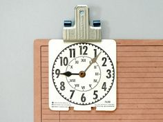 Vintage tag card clock