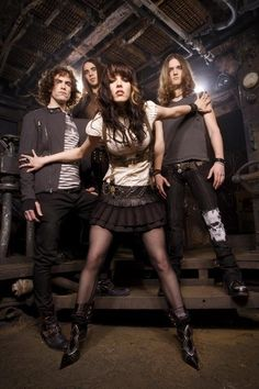 """Halestorm. Really starting to dig them, even if she IS trying way too hard to prove that she's a """"badass."""""""