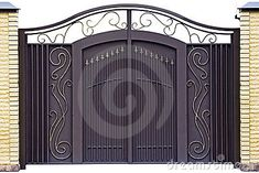 Entry door www.superiorornam Entry door www. Grill Gate Design, House Main Gates Design, Steel Gate Design, Front Gate Design, Window Grill Design, Door Gate Design, Door Design Interior, Railing Design, Iron Fence Gate