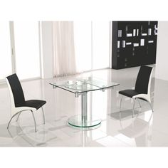 This Chrome And Clear Glass Extendable Dining Table By Casabianca Home Is  Part Of The Thao