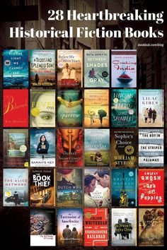 Be warned: There's a good chance you'll cry while reading these heartbreaking historical fiction books. #books #historicalfiction #fiction Book Club Books, Books To Read, The Kite Runner, Historical Fiction Novels, Great Books, Nonfiction, Book Worms, Thriller, The Help