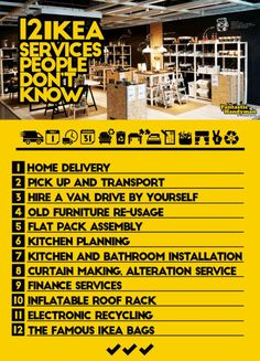 The 12 IKEA Services I was Not Aware OF: Without the shadow of a doubt, IKEA is certainly among the most popular furniture retailers in the world (thanks to IKEAhackers.net as well). Recently I did th