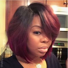 """In preparation for my trip to Miami, I wanted my hair to be practical yet fabulous. I decided to create a ombré bob """"quick wig"""" with lace closure. I am so in love with this thing! Deets: Ombré Hair: LIVE Brazilian keratin remi (1b/33) Lace closure: REMI velvet lace closure (Closure was bleached and colored to blend correctly) Cap: U part wig cap ( I added bobby pins for added security) The hot glue gun method was used which made the process a lot faster. The hair was cut/styled"""