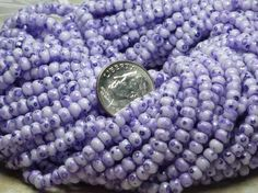 185 Tie dye Czech Glass Seed Beads-6/0-lilac