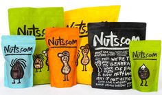 Nuts.com Logo, Identity, and Packaging by Pentagram