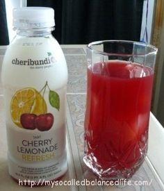 "Cheribundi Tart Cherry Lemonade is ""remarkably refreshing."""