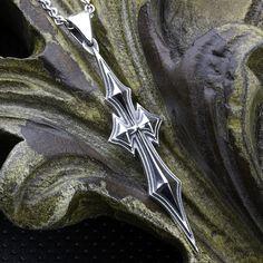 Sterling Silver Thin Long Christian Cross by DavidDafferDesigns Arrow Necklace, Pendant Necklace, Sterling Silver Cross, Christian, Contemporary, Unique Jewelry, David, Vintage, Etsy