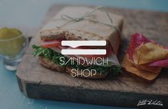 little kitchen sandwich shop logo  by raffaele gargiulo, via Behance