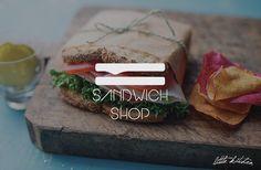little kitchen sandwich shop logo  by raffaele gargiulo, via Behance