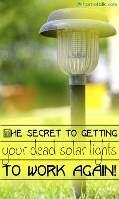 The Secret to Getting Your Dead Solar Lights to Work Again