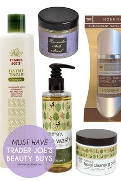 We love Trader Joe's, especially their beauty products. Here are 10 we think are must-haves. #divinecaroline #beauty #skincare