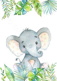 Set of 4 Safari Animal Prints, Jungle Animal Nursery Prints, African Safari Animals Wall Art, Safari Nursery, Tropical Jungle Nursery Art Set of 4 Safari Animal Prints Jungle Animal Nursery Prints image 1