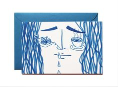 Feeling upset-Art print-Postcard by Pionara on Etsy