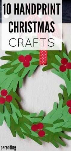 DIY: These 10 handprint Christmas crafts are so cute! Jazz up your holiday decor with some handmade (literally) touches. If you needed any inspiration to get crafty, here it is!