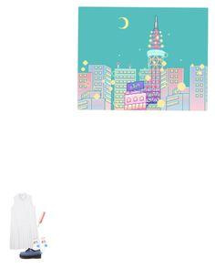 """""""虹"""" by alessiap-06 on Polyvore featuring moda e Monki"""