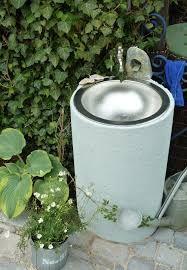 Bildergebnis für waschbecken im garten